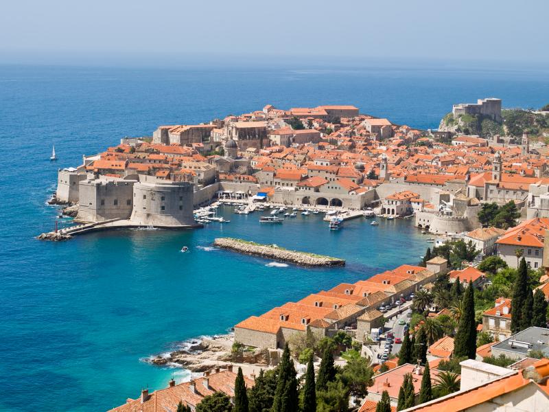 Dubrovník, Chorvatsko, staré město, pevnost