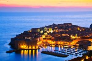 Chorvatsko v noci