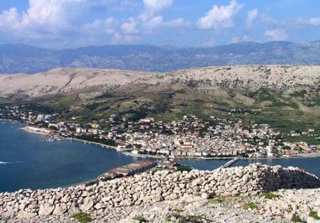 ostrov Pag - severní Dalmácie