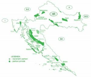 narodní parky Chorvatsko
