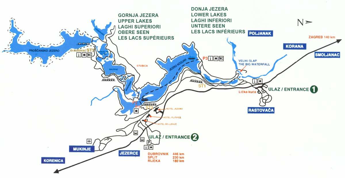 plitvice-mapa