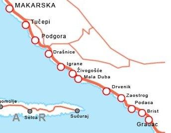 mapa gradac