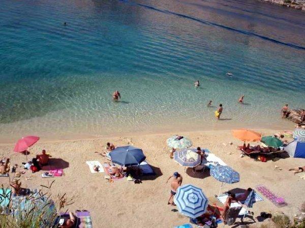 Barbat ostrov Rab pláž