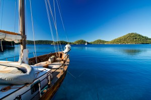 Anchoring at lastovo, croatia