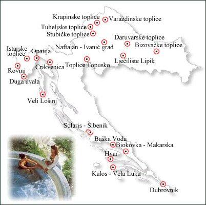 lázně Chorvatsko