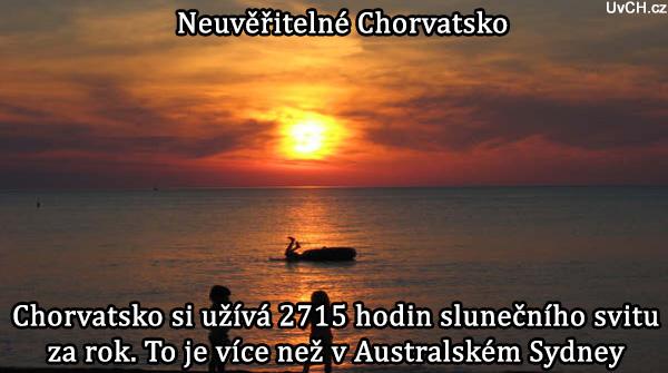 sluneční svit v Chorvatsku