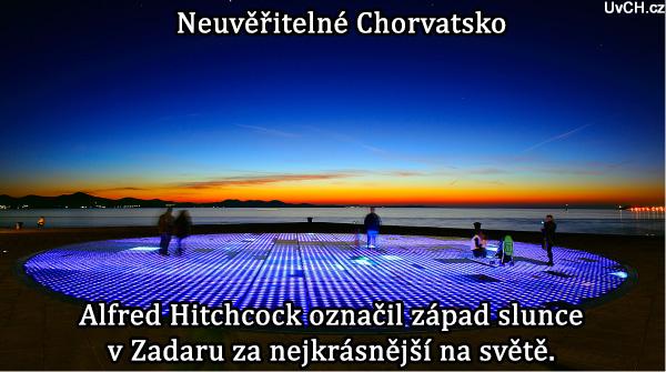 pozdrav sluncy v Zadaru