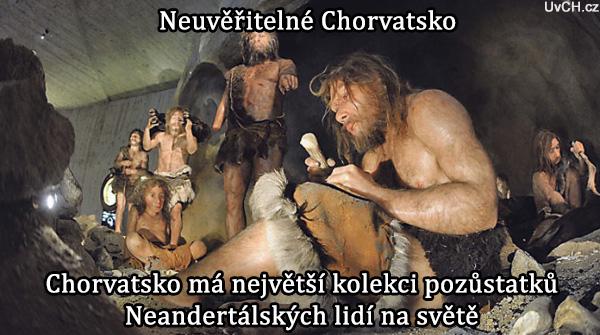 neandertálci chorvatsko