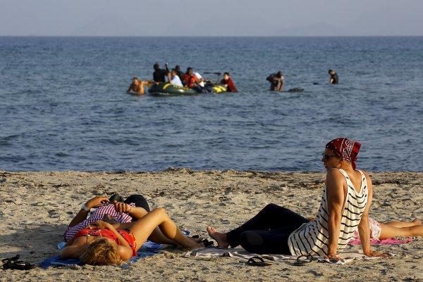 Řecká pláž