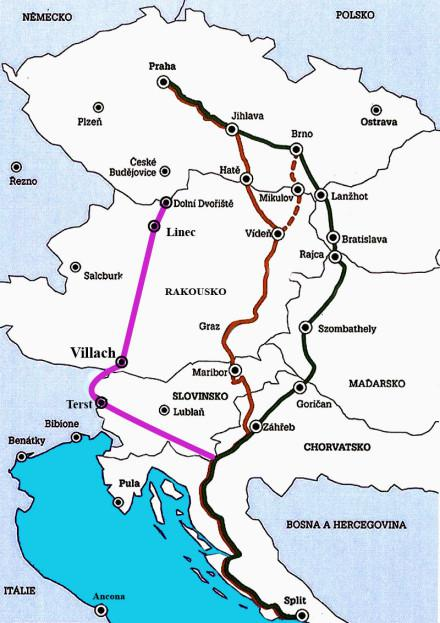 trasy do chorvatska aute