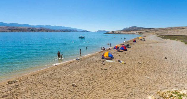 písečná pláž Chorvatsko