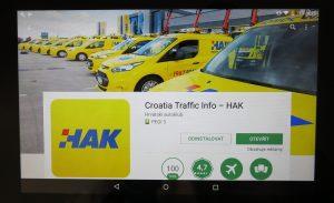 Aplikace Croatia Traffic Info HAK