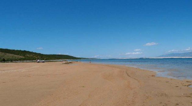 písečná pláž ljubač u zadaru