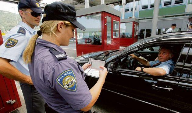 kontrola hranice chorvatsko