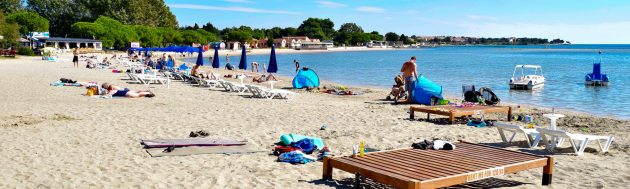 Medulin písečná pláž