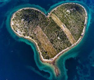 ostrov srdce Chorvatsko