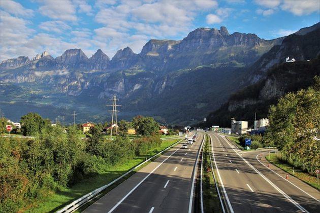 cesta do Chorvatska přes Rakousko