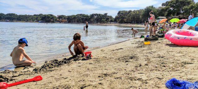 Medulin písečná pláž chorvatsko