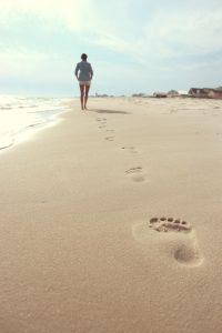 na pláži v Chorvatsku